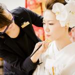 大阪大黒寺にて仏前結婚式撮影