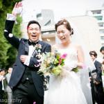 大阪太閤園にて結婚式撮影